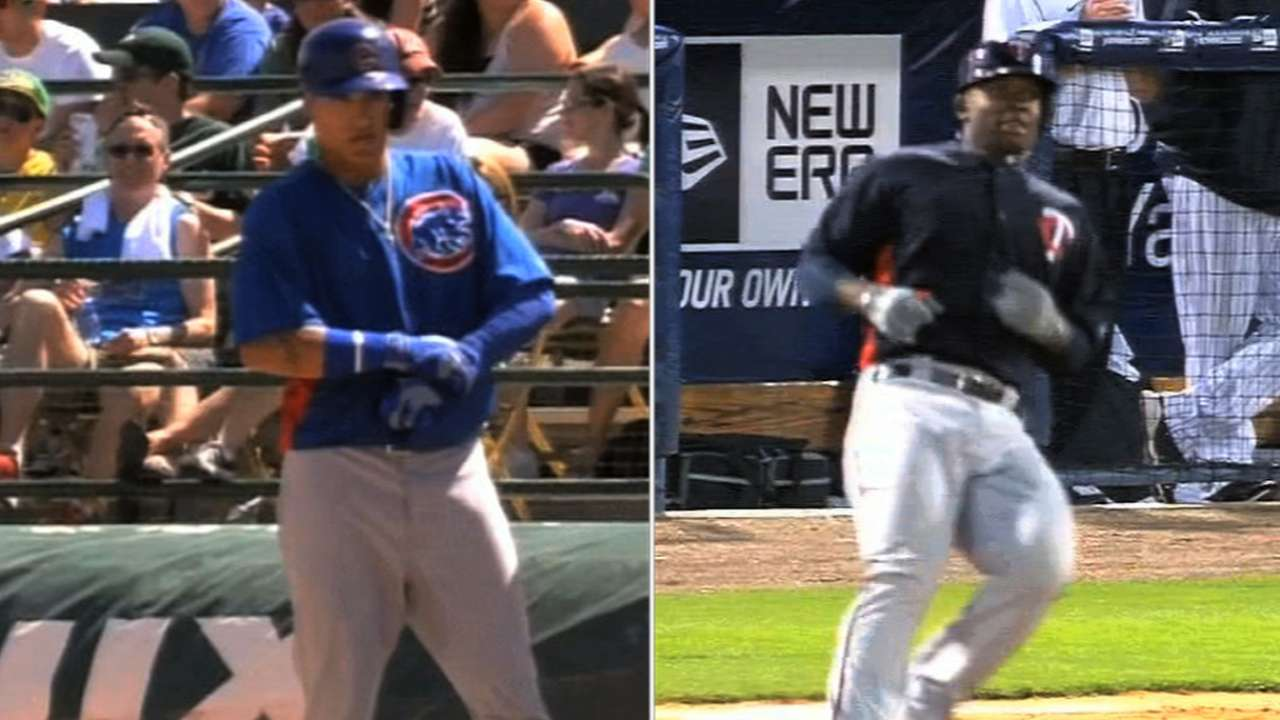 Promising slugger Baez developing patience at plate