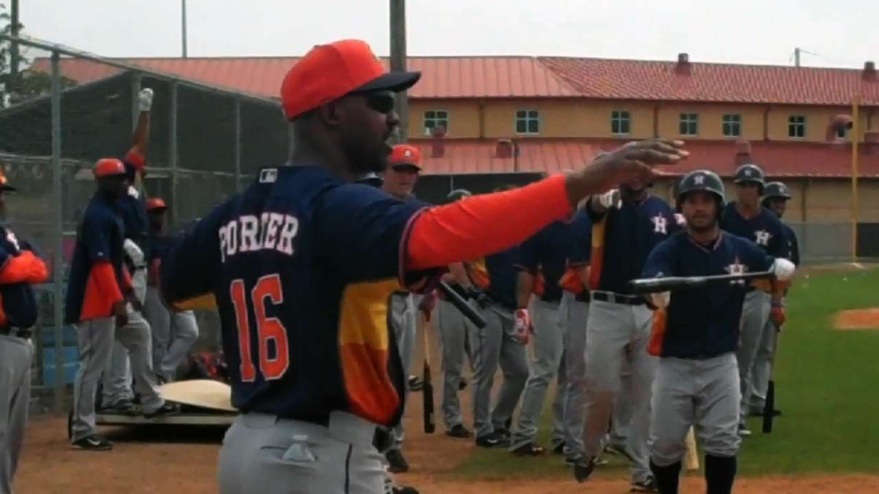 Hitting competition light-hearted fun for Astros
