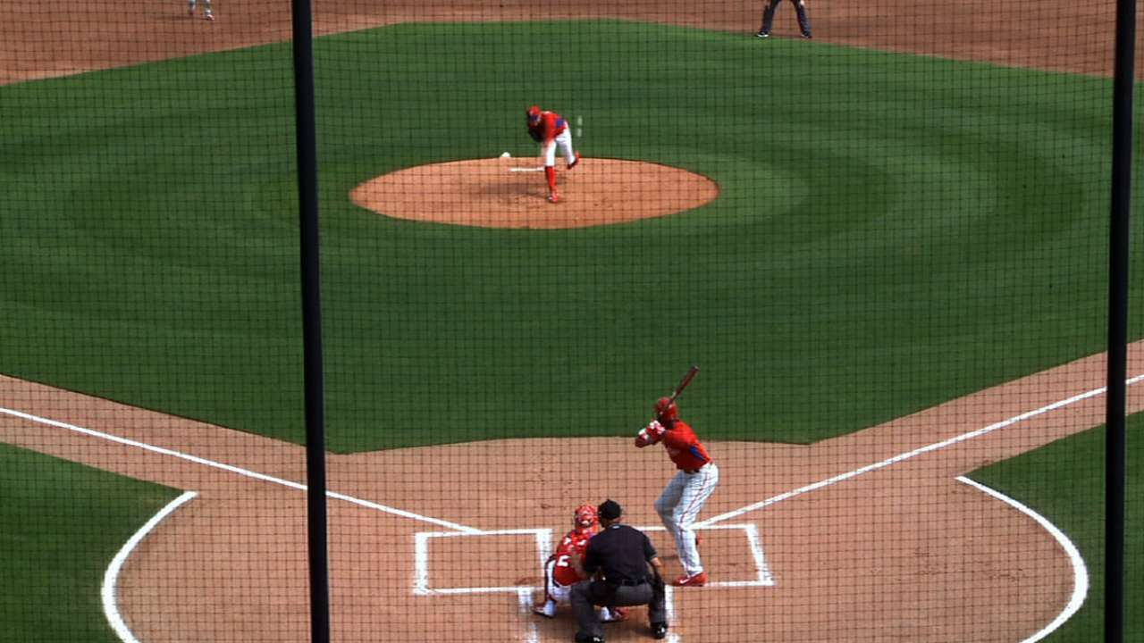 Galvis flexes some muscle in intrasquad game