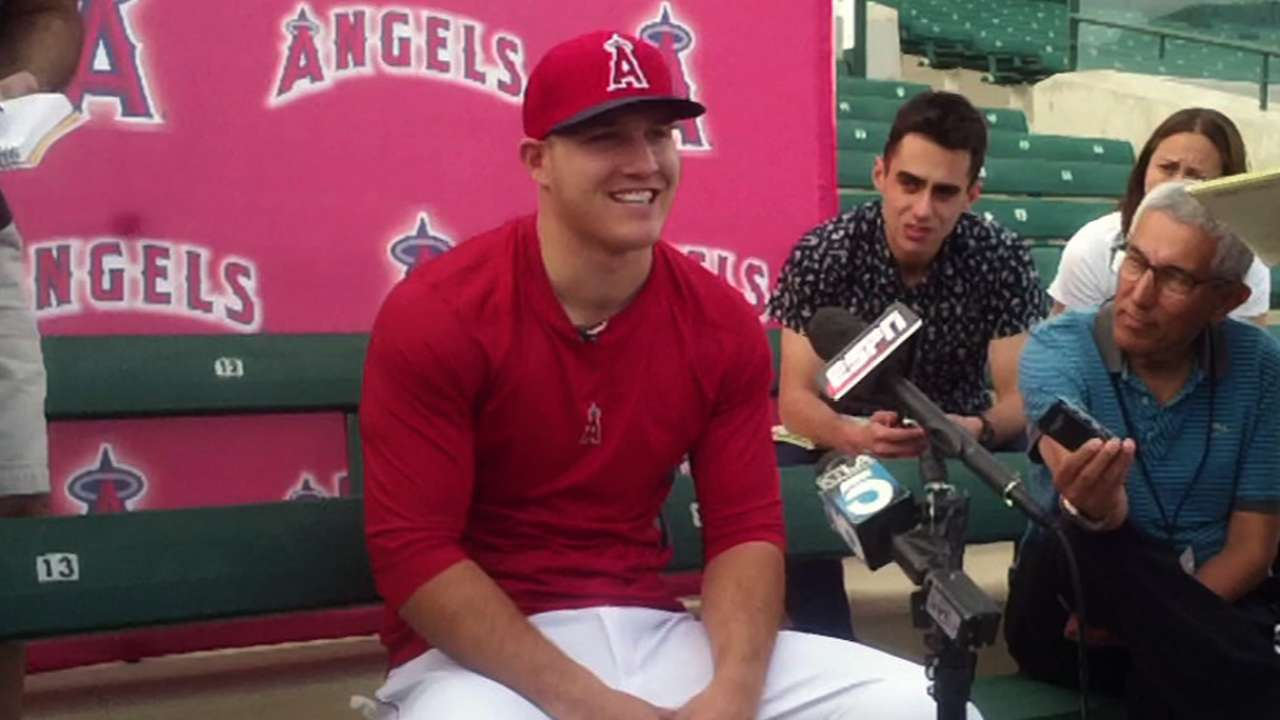 Trout's rising popularity follows him to camp