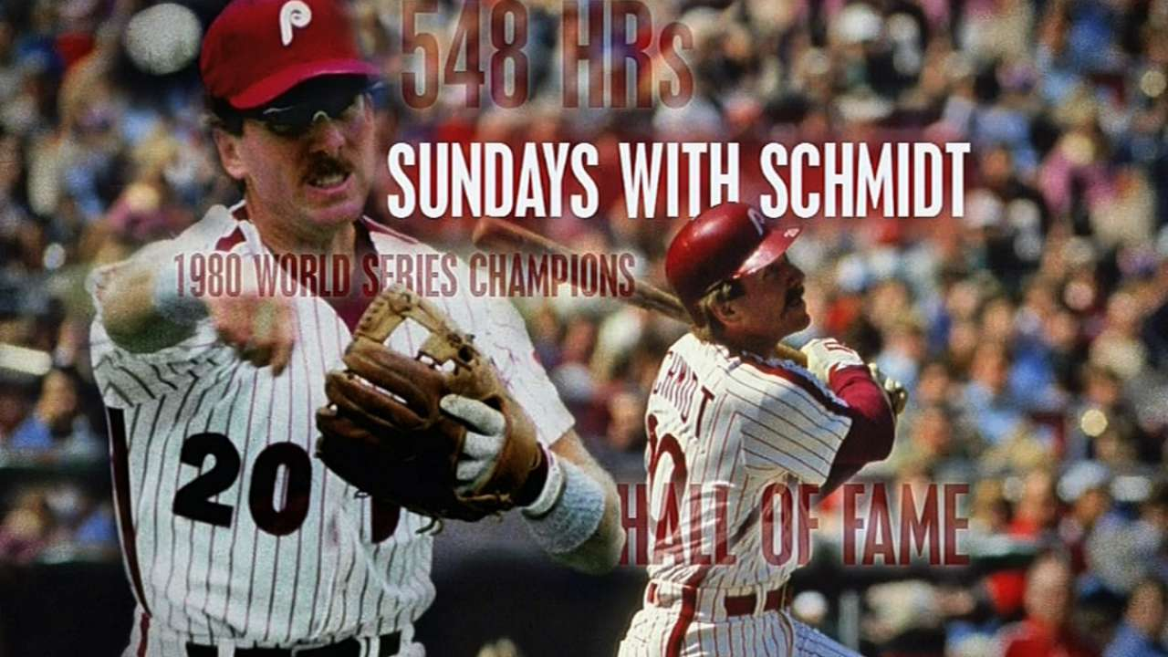 Schmidt joining Phillies' broadcast team