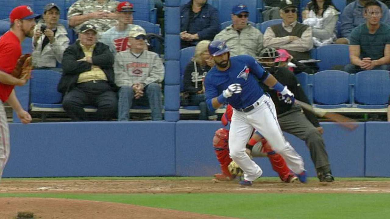 Bautista leads Blue Jays' offensive outburst