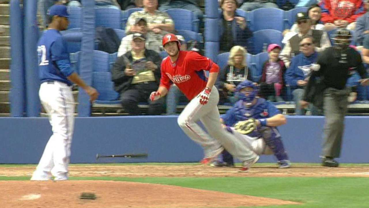 Ruf, Mayberry go yard in loss to Blue Jays