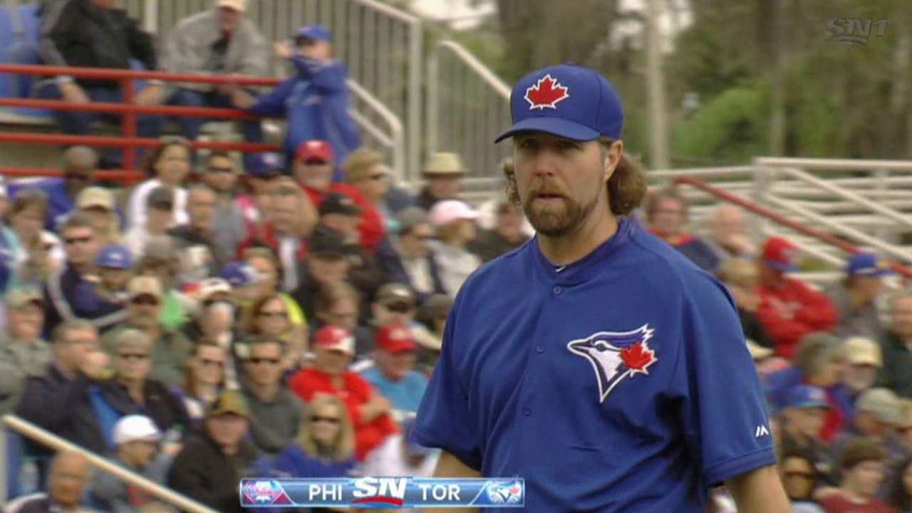 Dickey focused on building velocity as spring continues