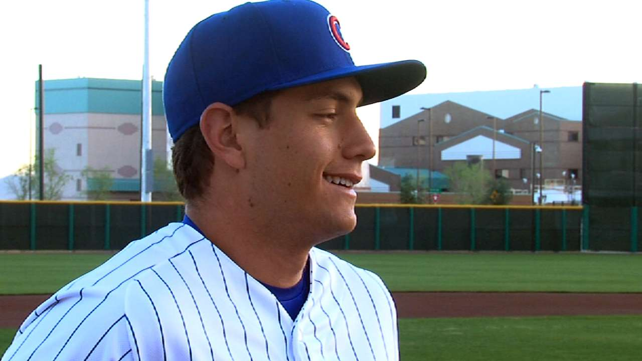Prospect Almora hits for cycle in 13-inning Class A win
