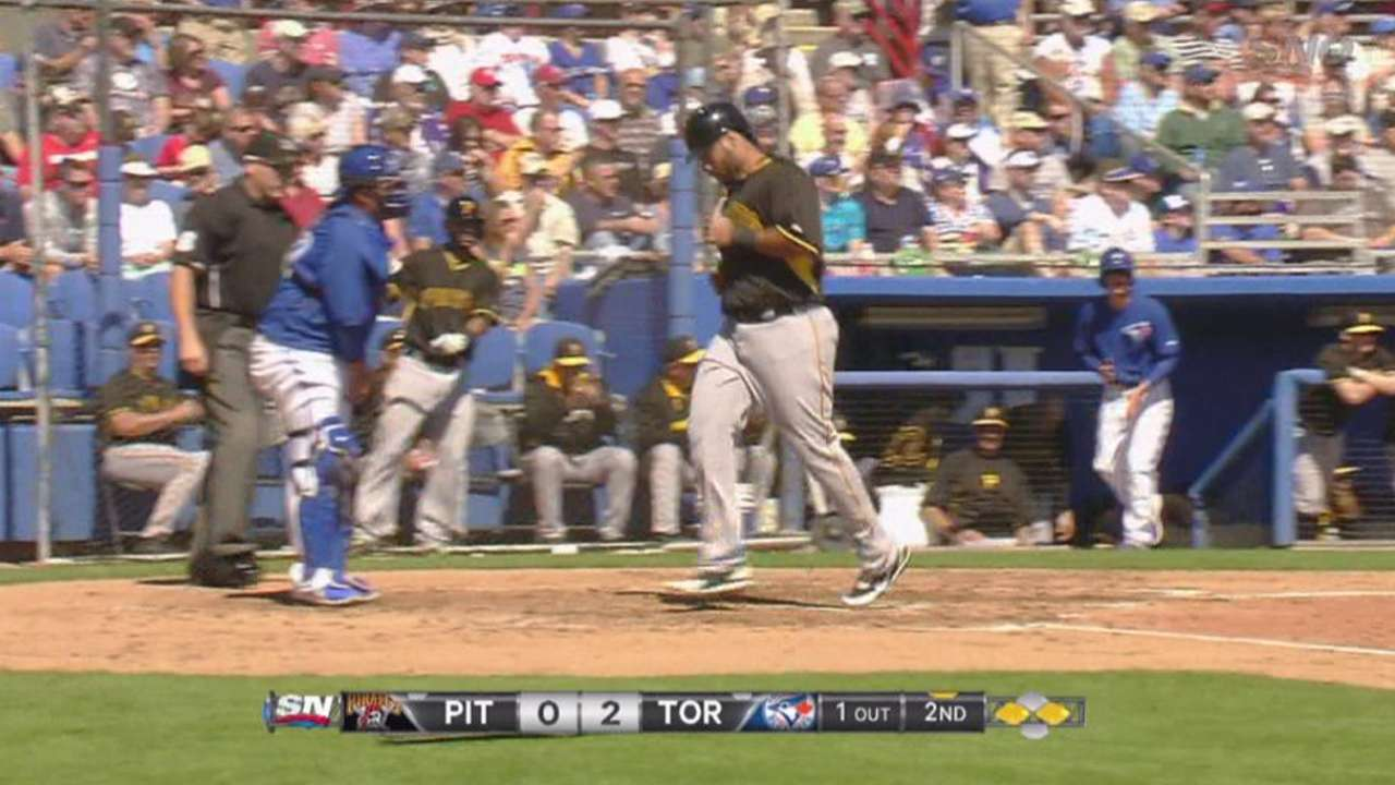 Hague back in the bigs with Marte on bereavement