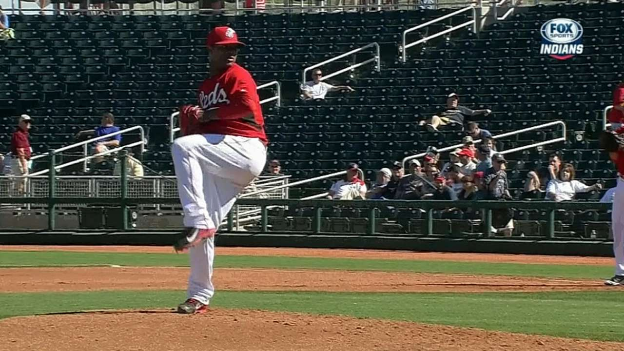 Corcino struggling to find rhythm in Cactus League
