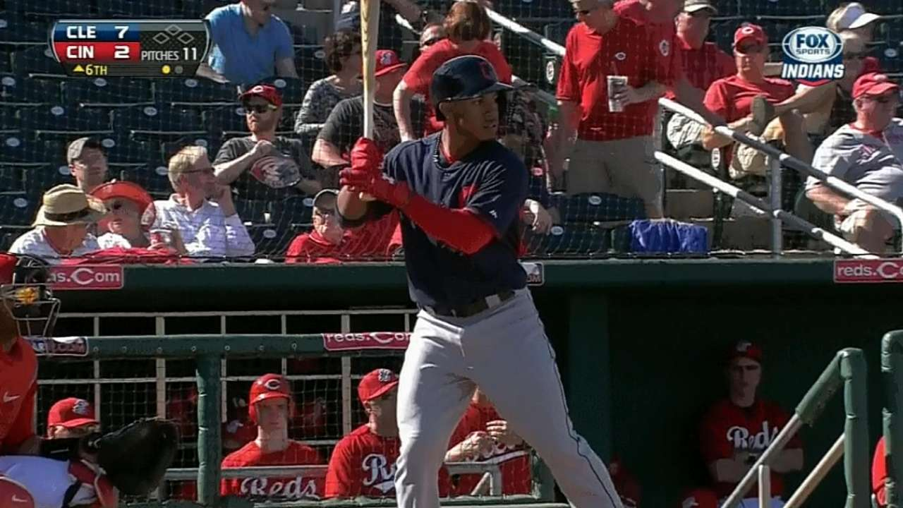 Lindor singles, scores in Triple-A debut