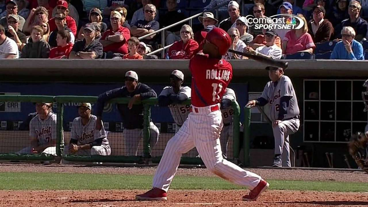 Rollins' homer caps huge third as Phillies rally for win