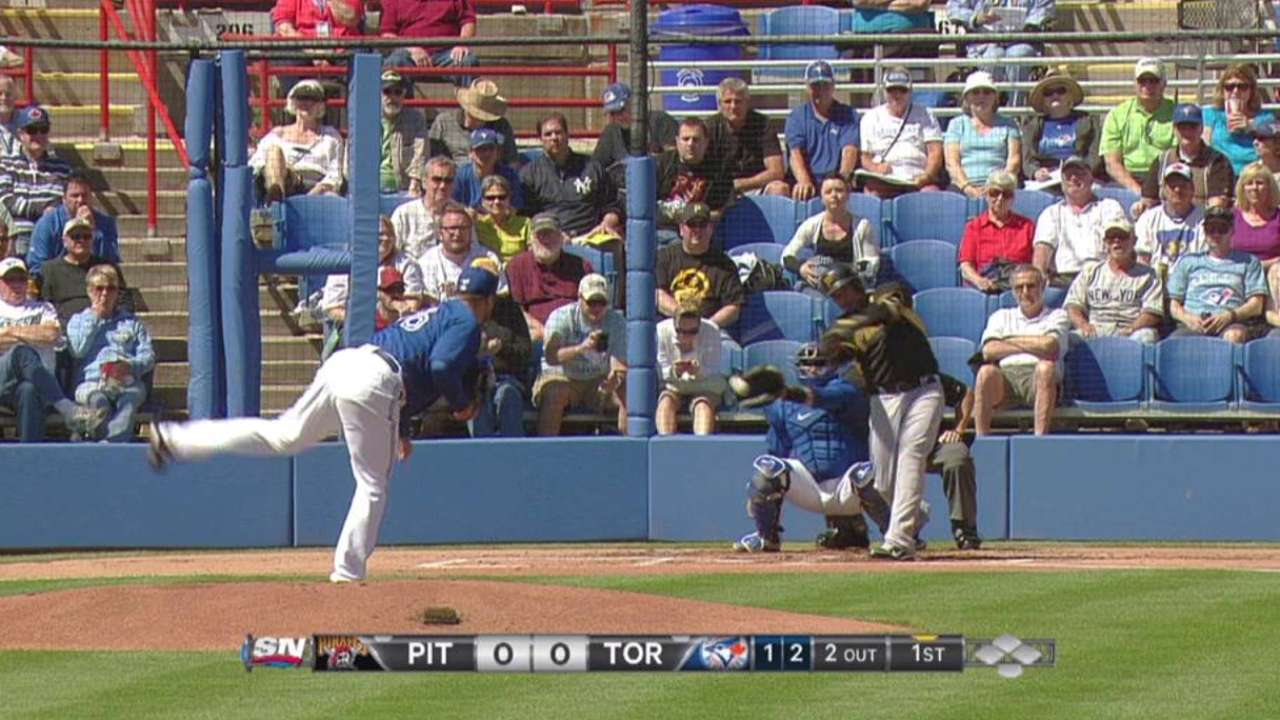 Rasmus drives in a pair to back Buehrle vs. Bucs