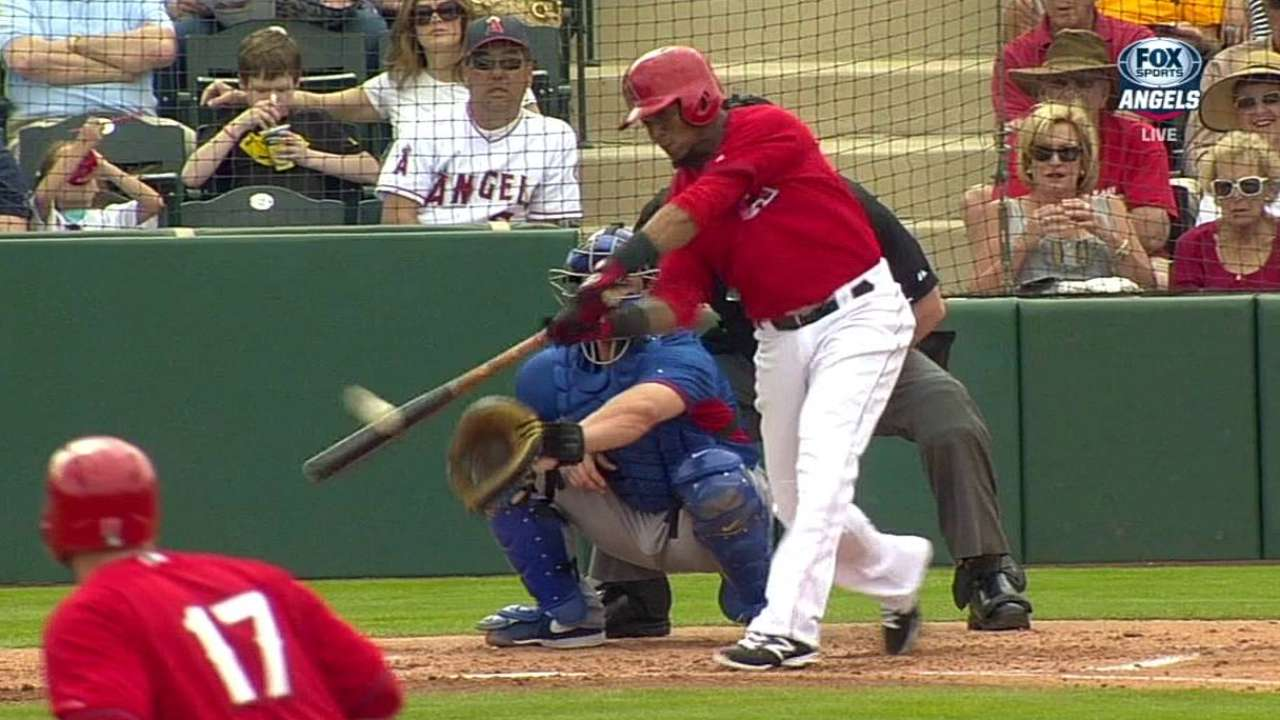 Aybar projects for bottom of Angels' batting order