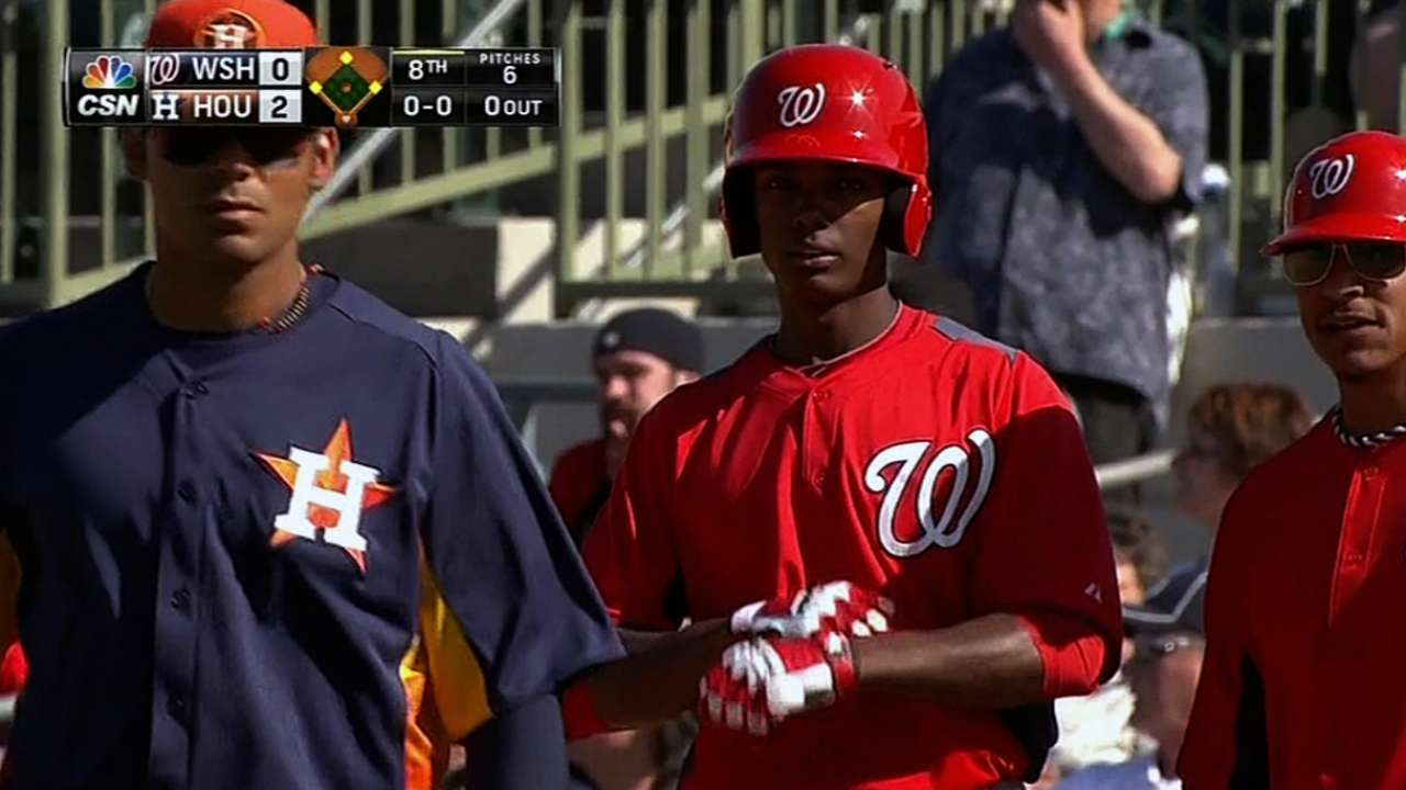 Nats prospect Taylor has three-homer game