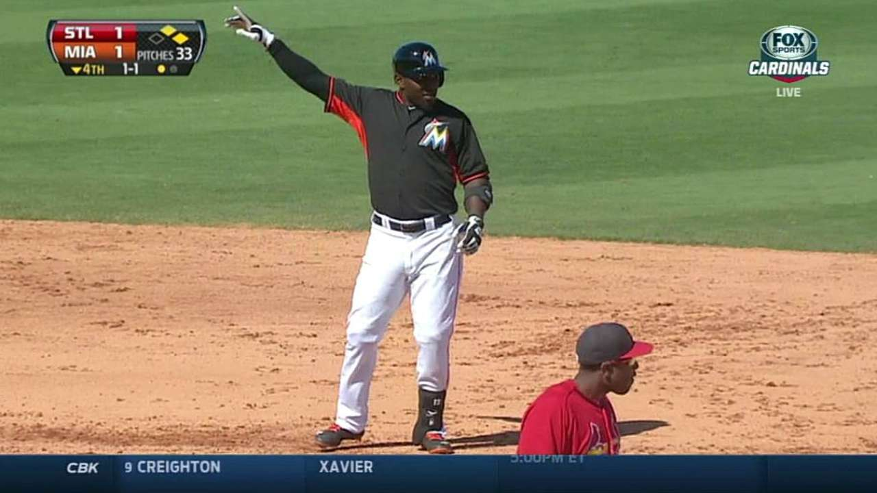 Ozuna hopes No. 13 proves to be lucky