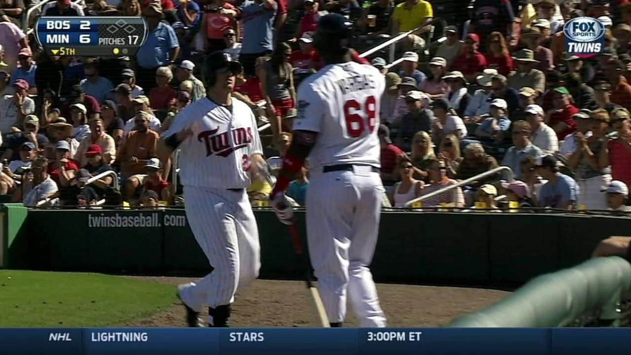 Parmelee, Dozier come up big for Twins