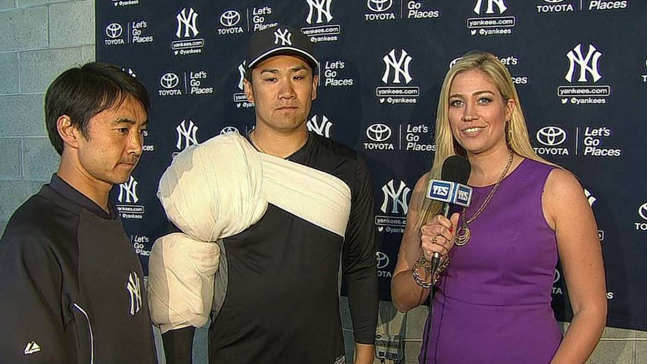 Tanaka 'relieved' to get first game under his belt