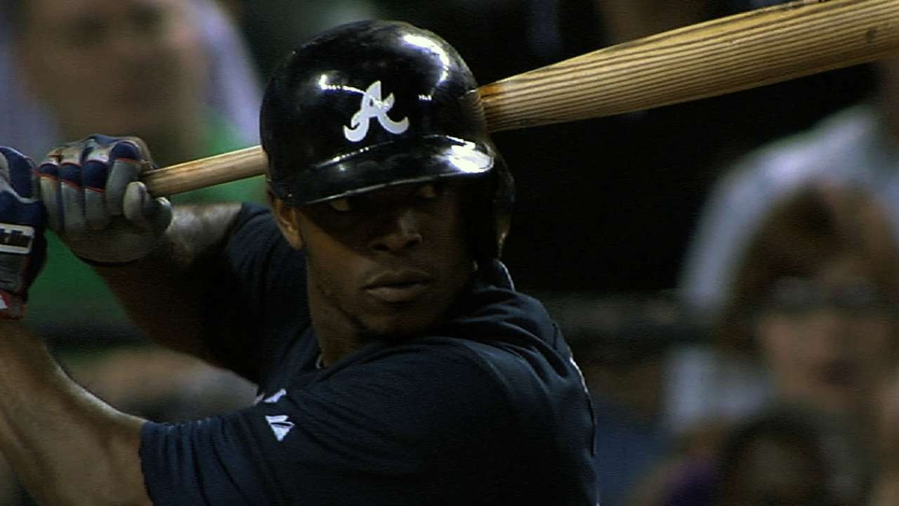 Justin Upton scratched with soreness in side