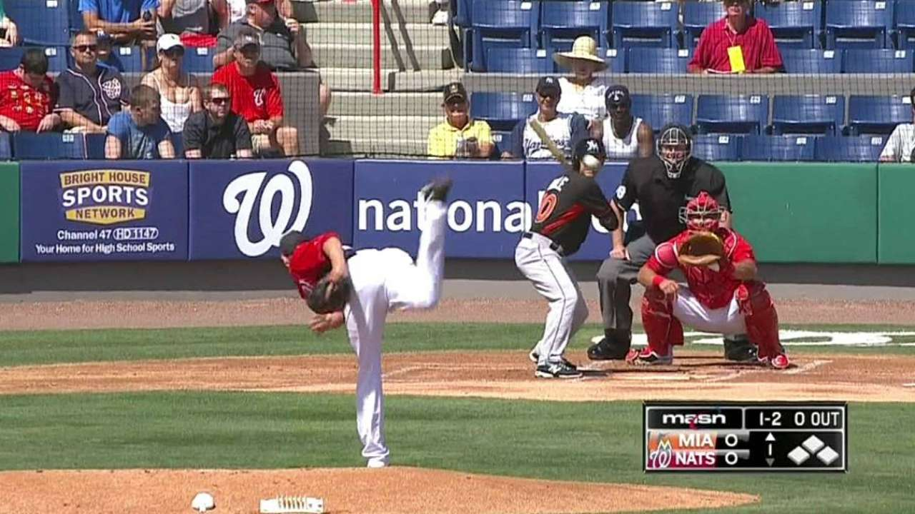 Fister strikes out two in Nats debut vs. Marlins