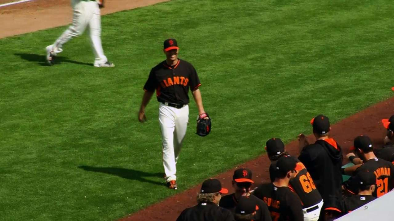 Hudson strong in first spring start for Giants