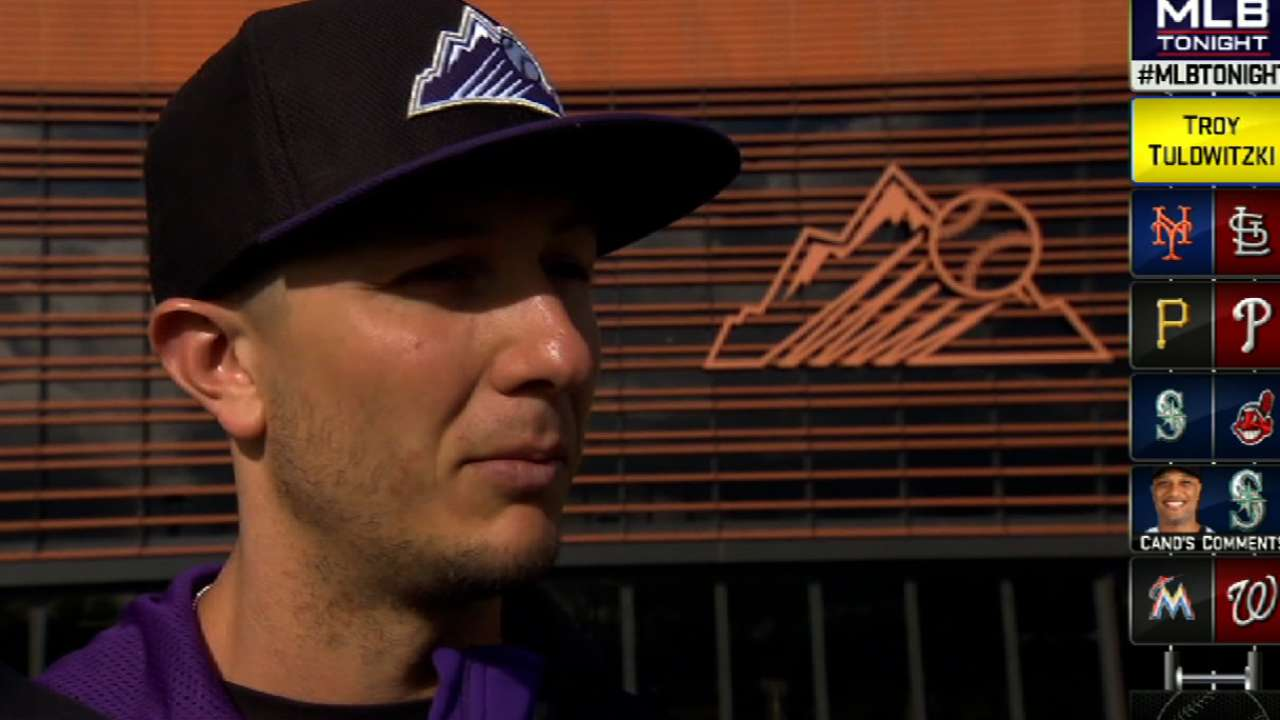 Tulo taking it easy after plunking on calf