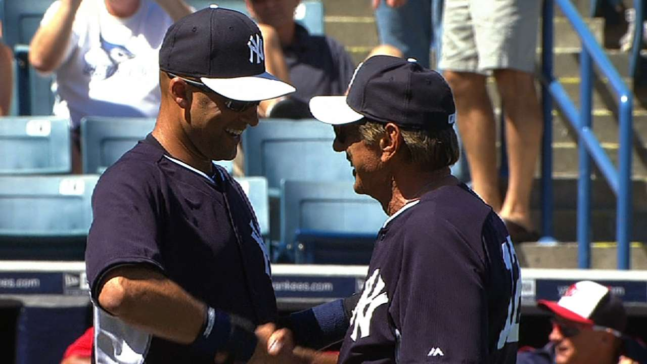 When legends collide: Namath, Jeter meet