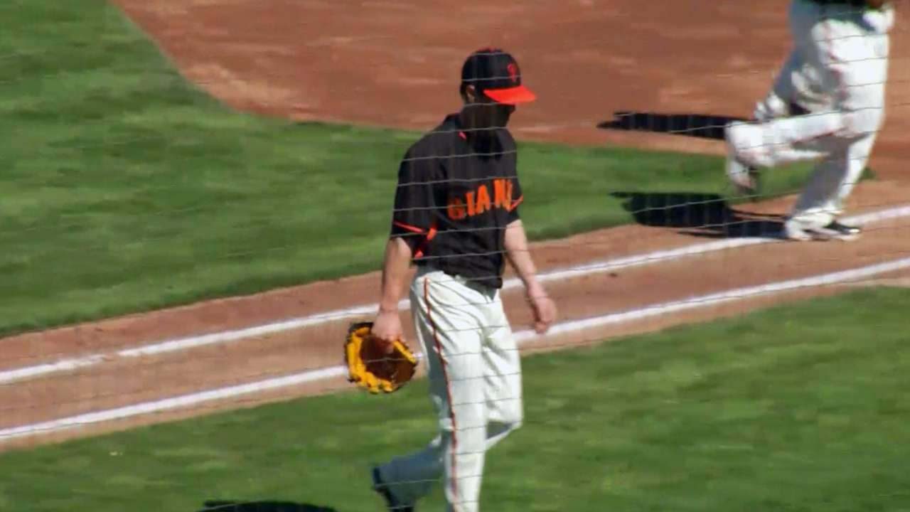 Lincecum hurls two shutout innings in debut