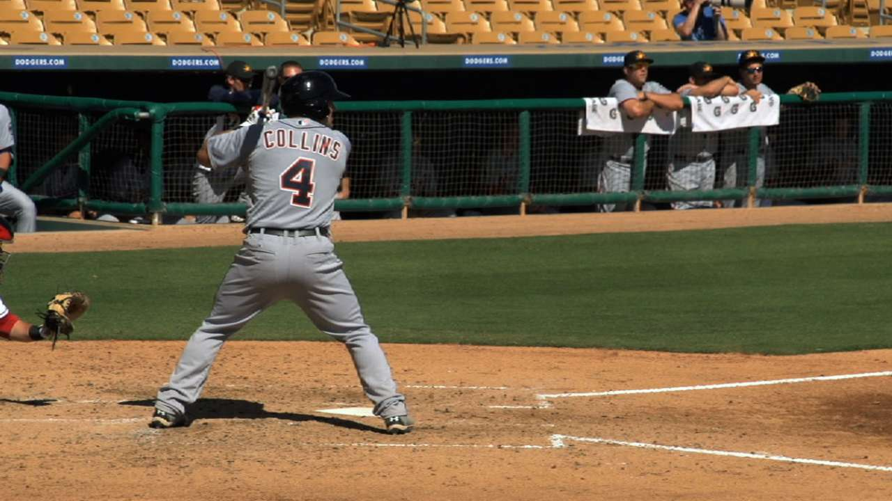 Prospect Collins honing in on spot with Tigers