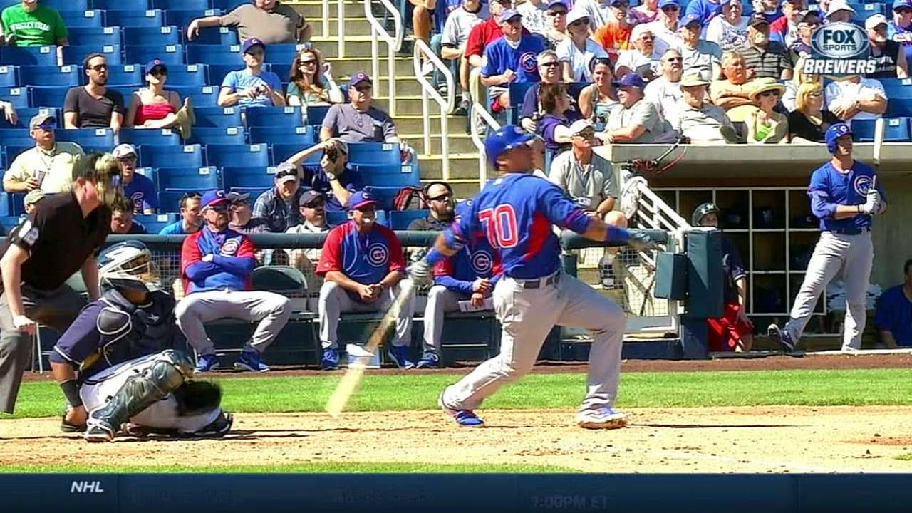 Baez dazzles with bat, glove in Cubs victory