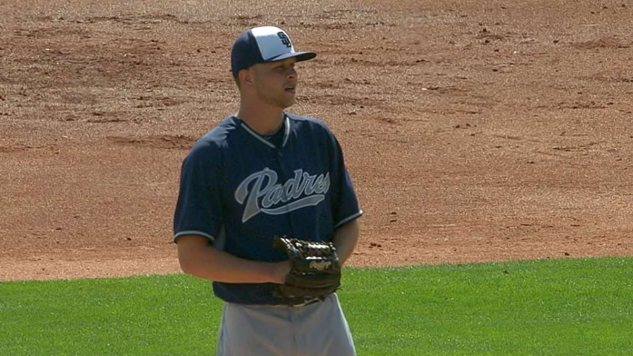 Hahn creates buzz on, off mound with Padres