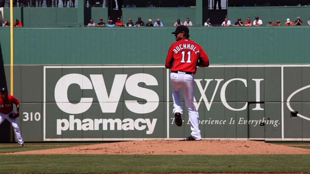 Buchholz thrilled by arm strength in debut