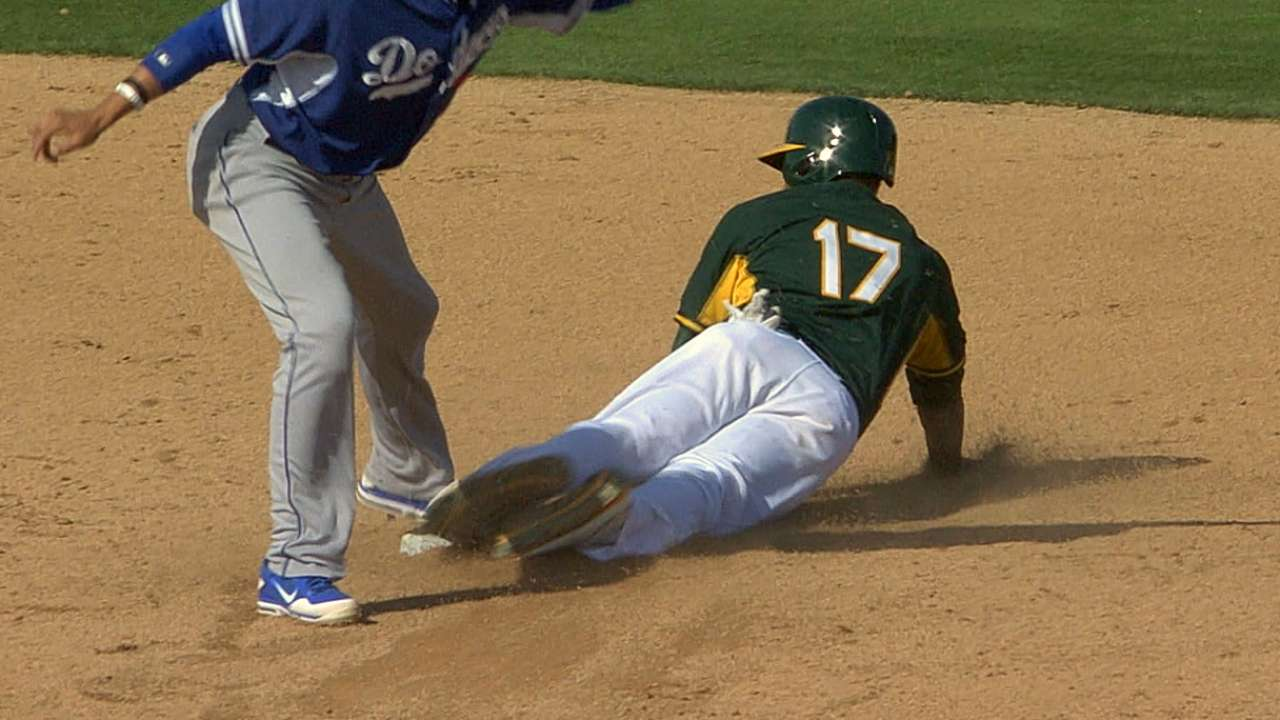 A's send prospect Russell to Minor League camp