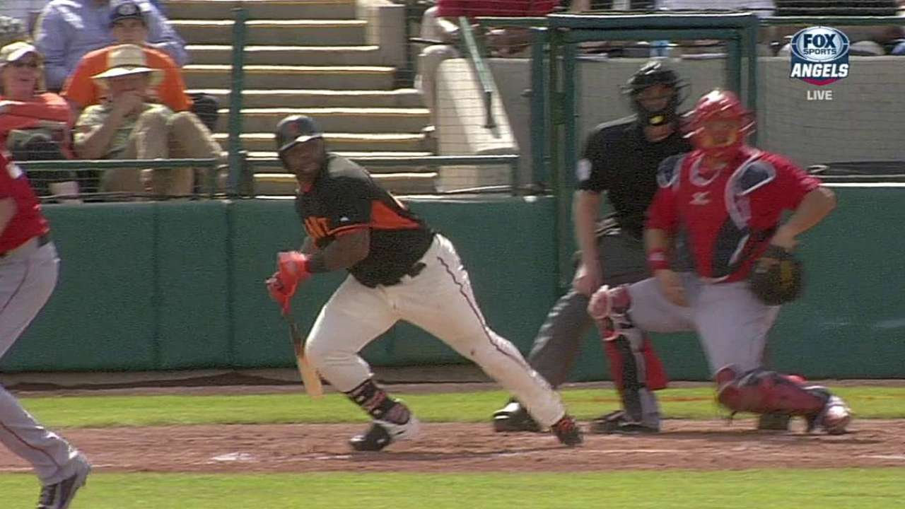 Cain's solid outing backed by Sandoval's hits