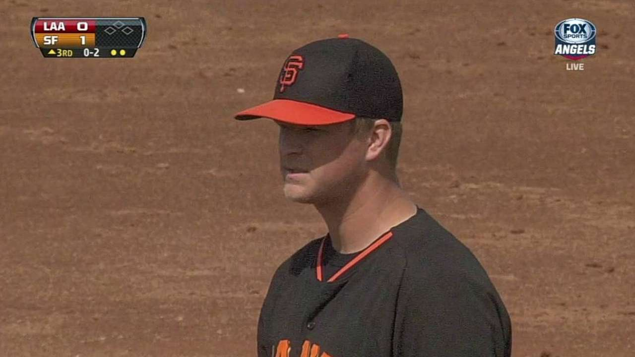 Cain pitches well in Cactus League debut