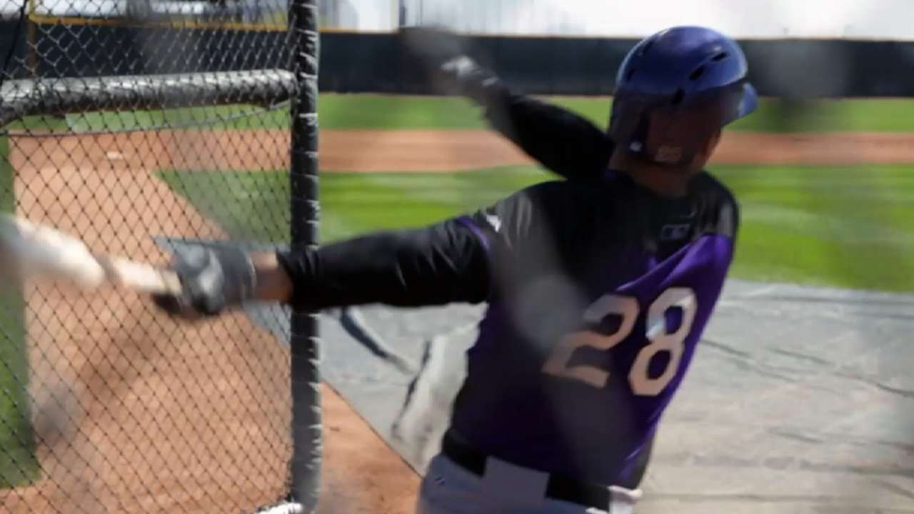 Arenado participates in fielding activities