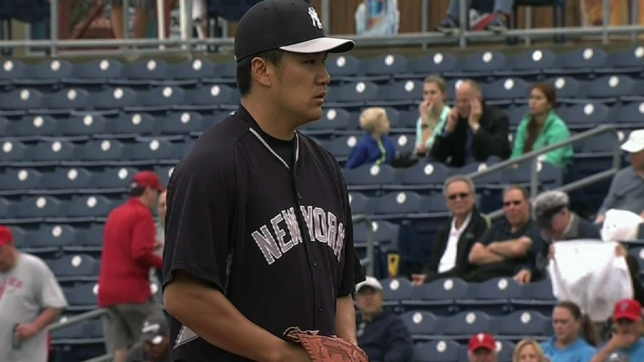 Tanaka's first start comes with new experiences