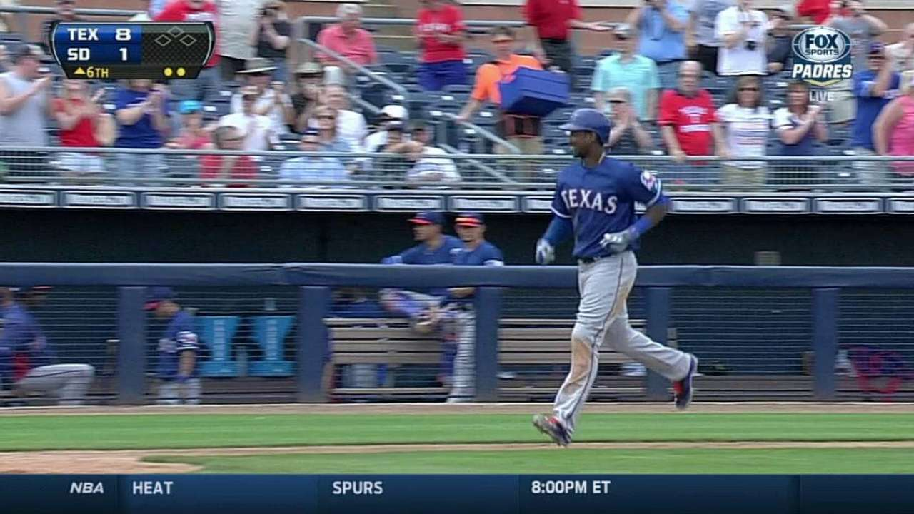 Profar's grand slam highlights rout of San Diego