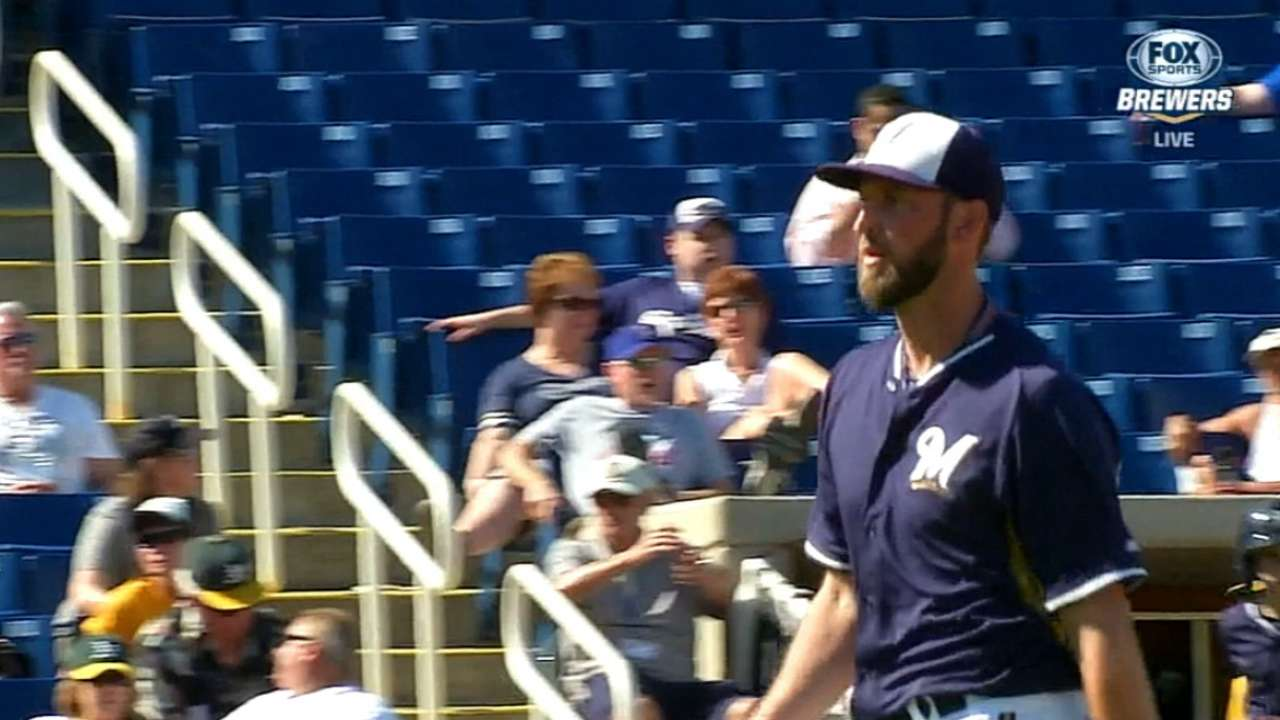 Brewers' Morris grinding through another slow start