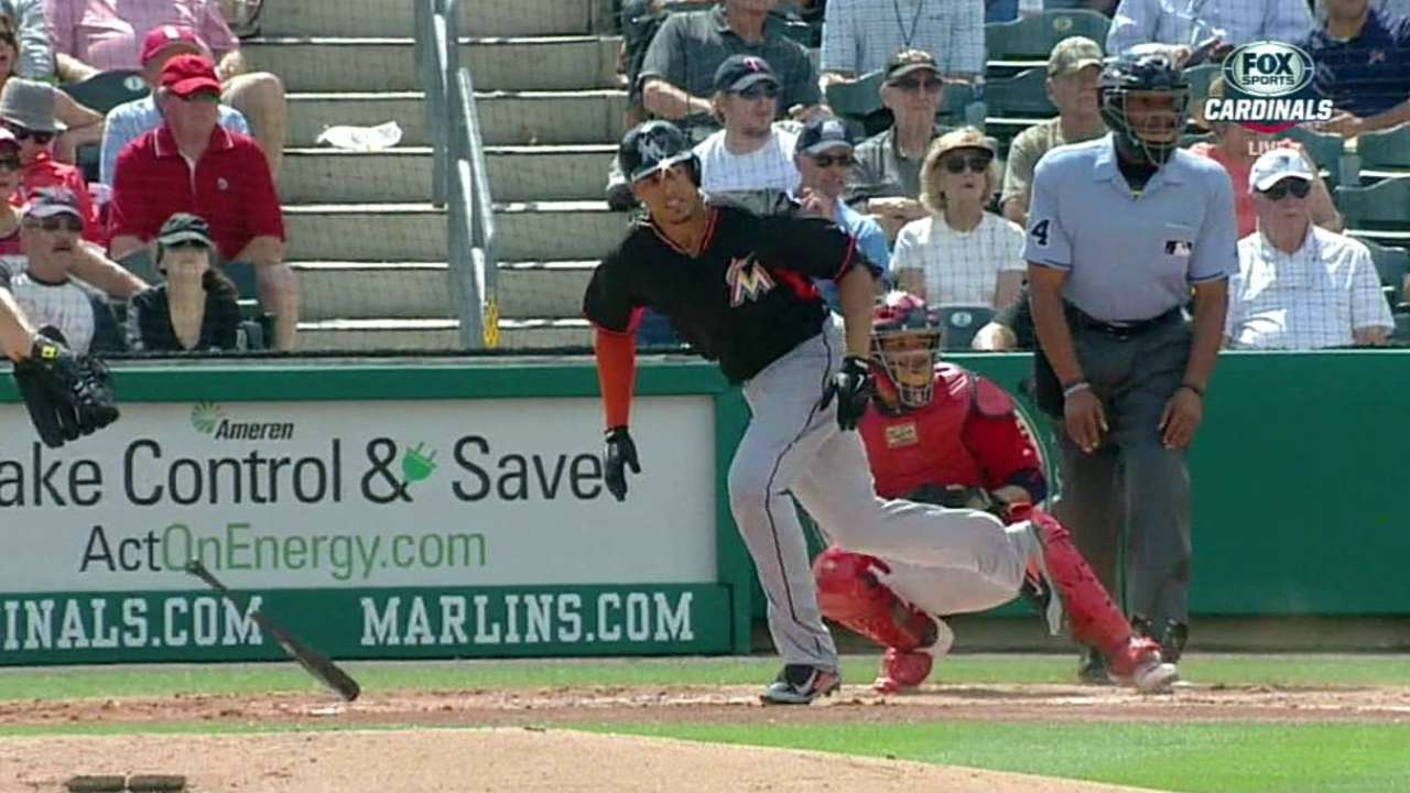 Hech, Marlins enjoy big day behind Alvarez