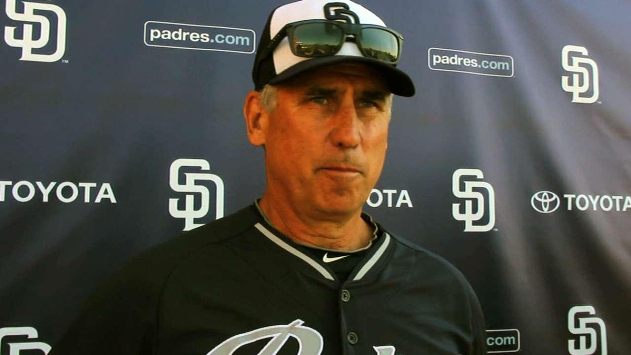 MLBPA's Clark visits Padres' camp, discusses recent honor