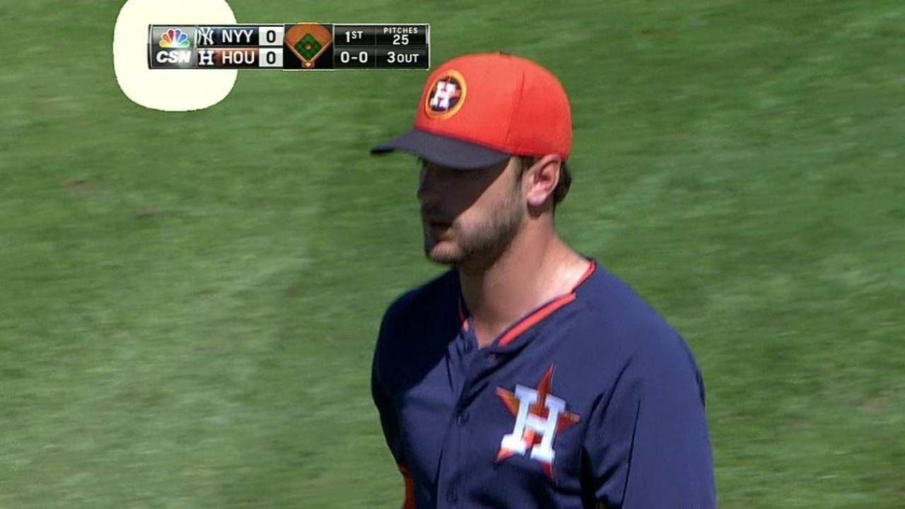 Cosart works on curveball in start vs. Yankees