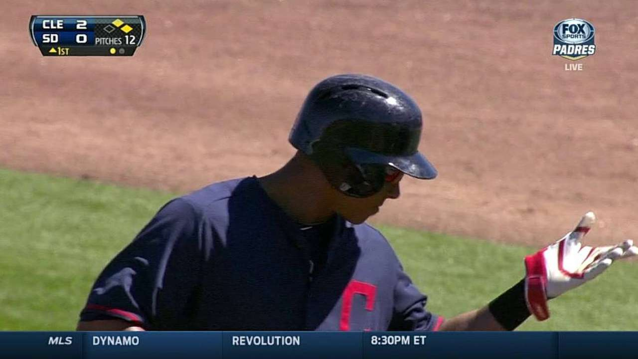 Brantley's four hits highlight draw with Padres