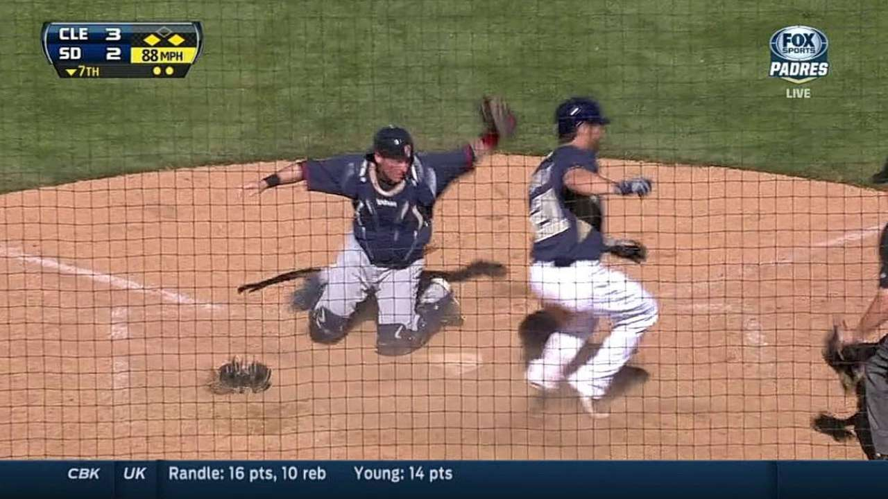 Johnson finishes strong before Padres rally to tie