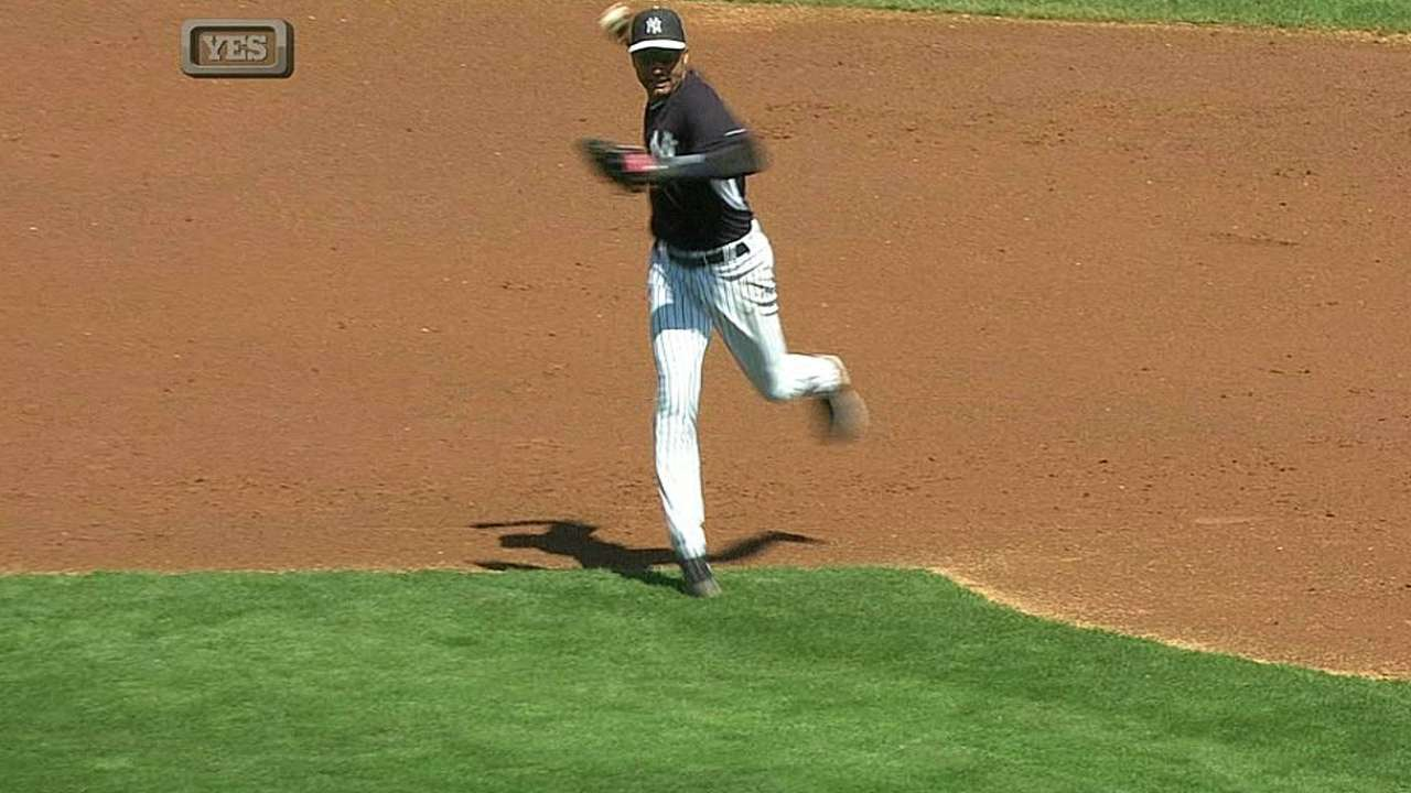 Jeter gets multiple chances in field against Rays