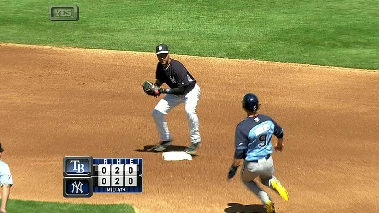 Versatile Johnson gets work in at first base