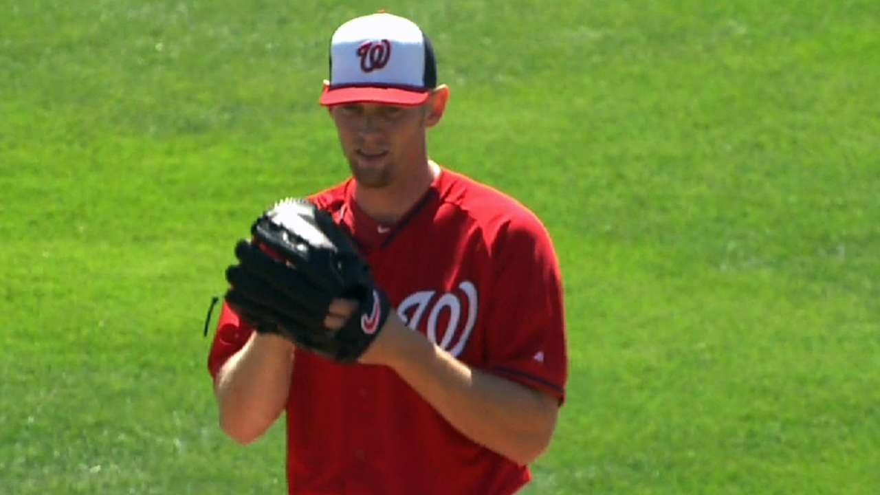Strasburg makes adjustments in solid outing