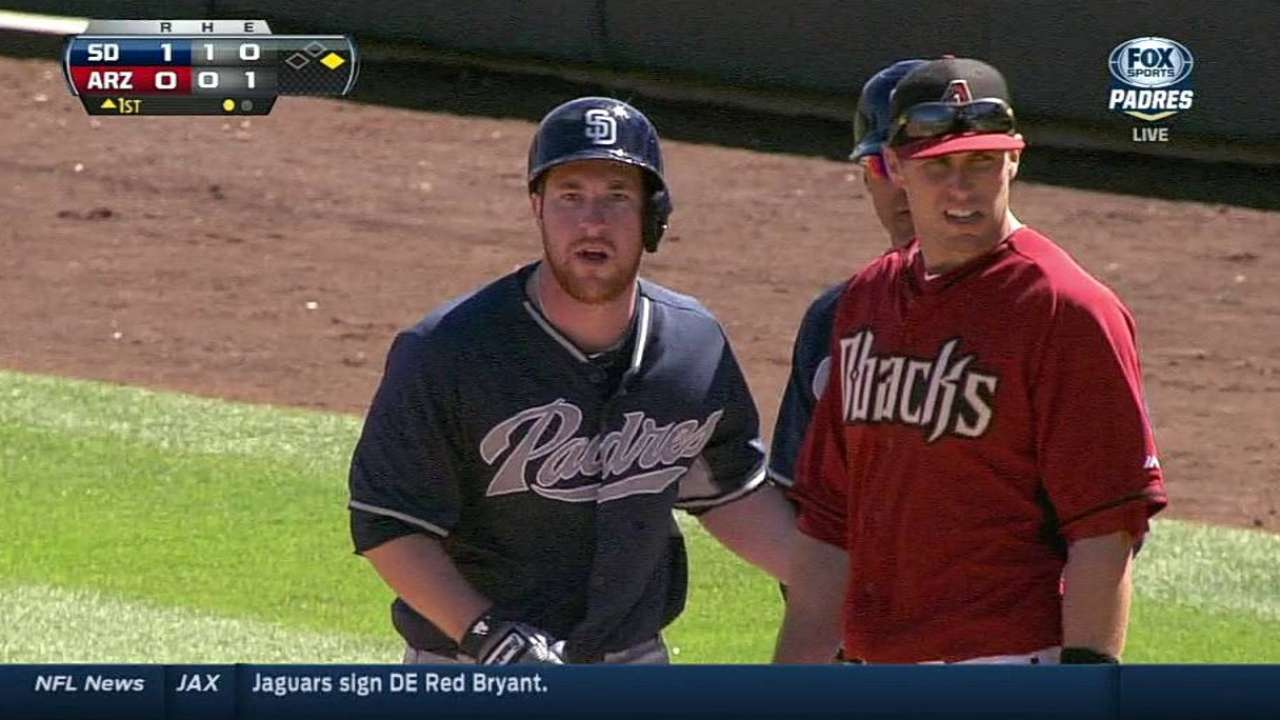 Gyorko's bat, dominant 'pen help Padres force tie