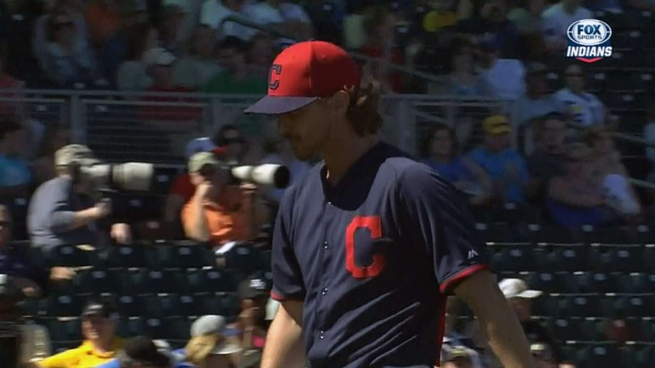 Tribe rotation hopeful Tomlin silences Brewers