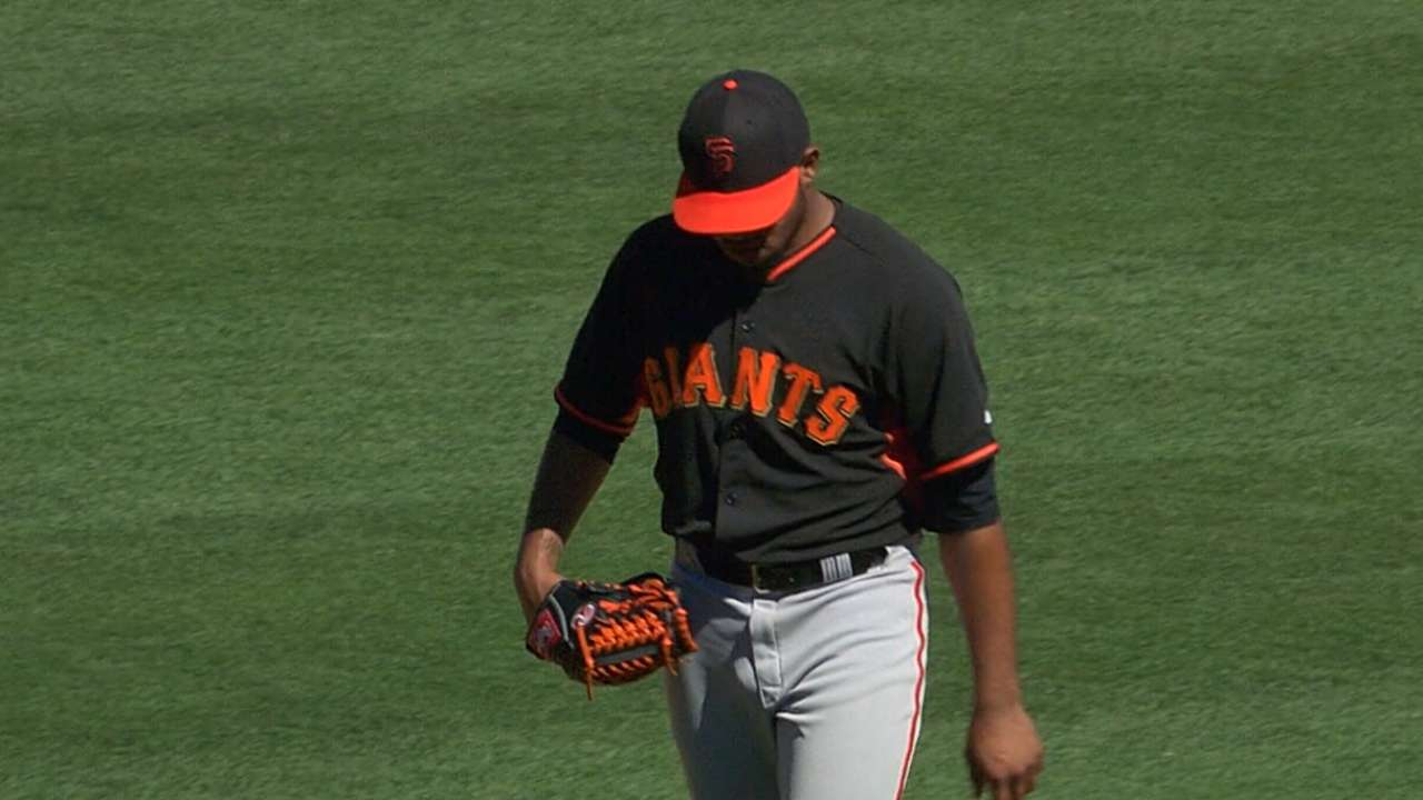 Giants prospect Escobar knocking on door of Majors