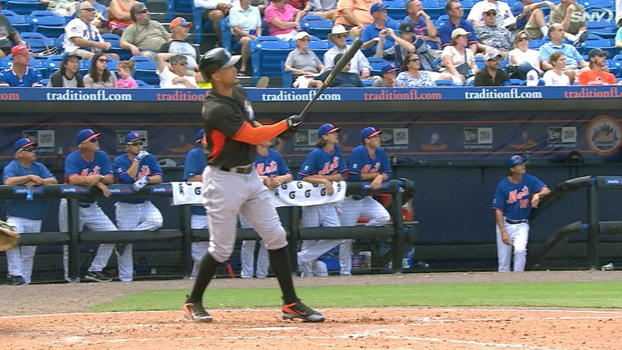 Stanton clears two fences with one swing