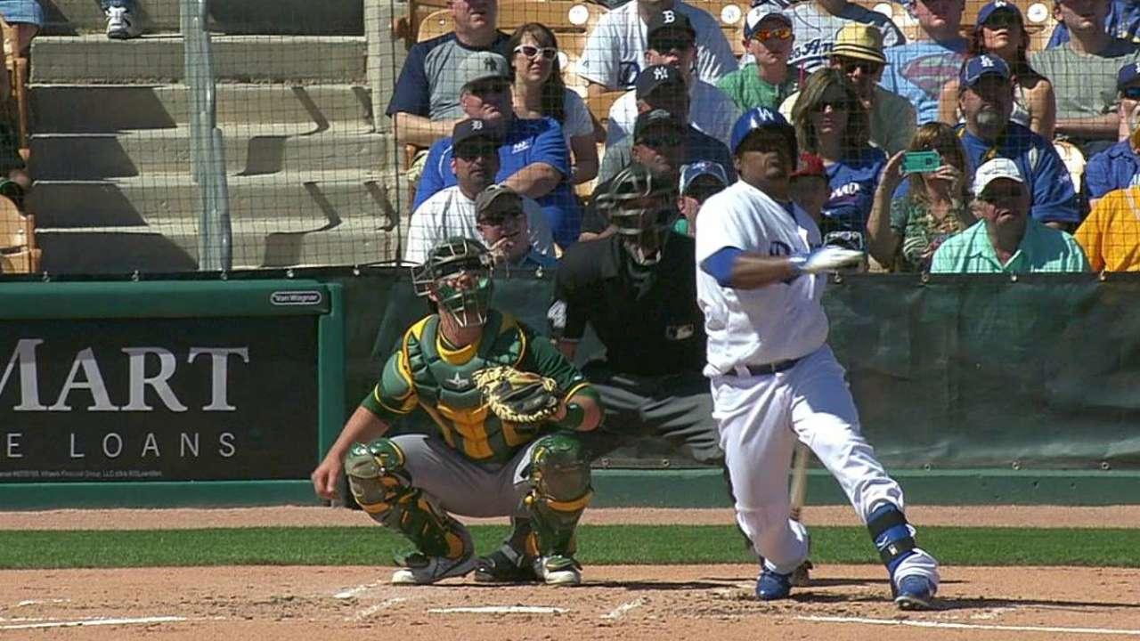 Uribe pega HR en empate de Dodgers y Atléticos