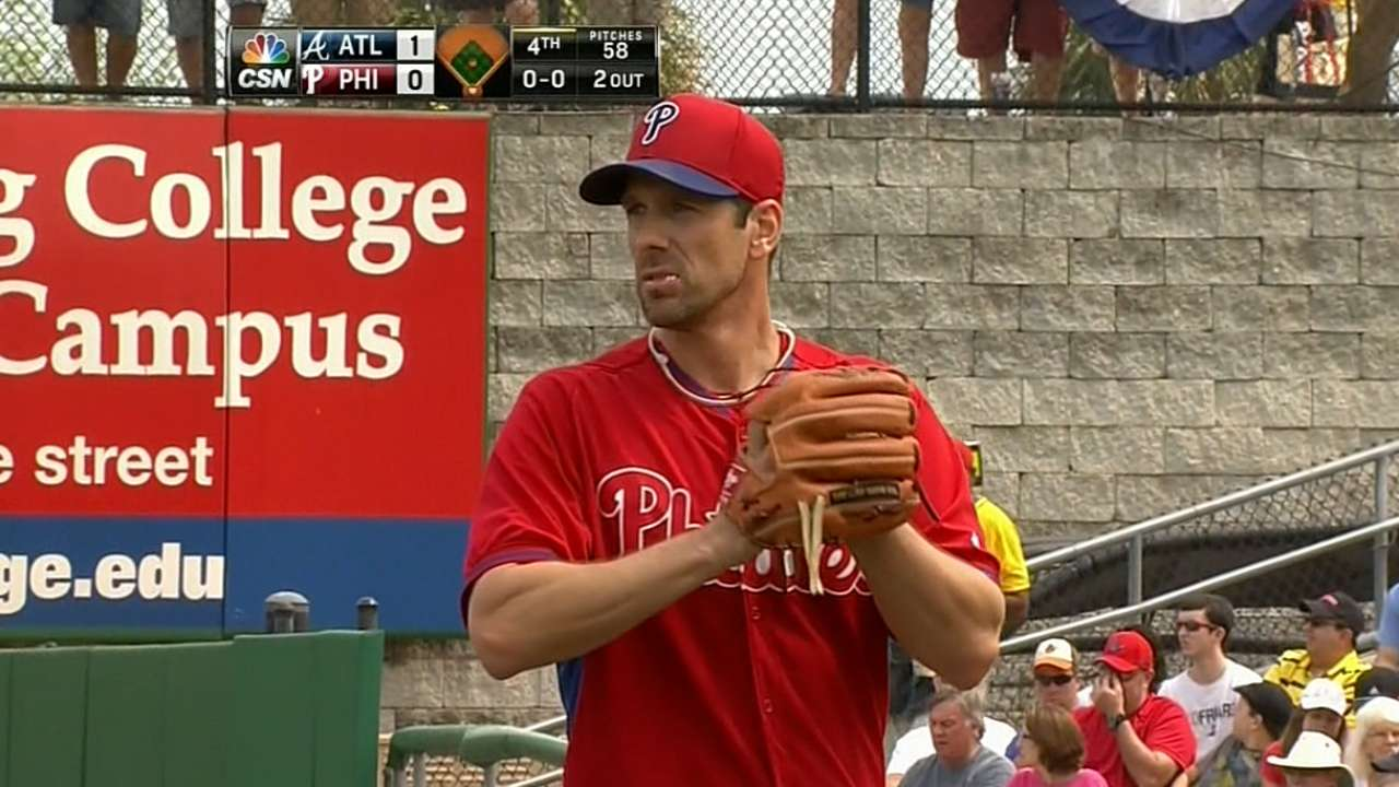 Lee ready to step up for Phils with Hamels out
